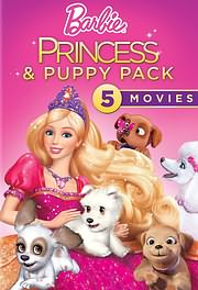 CD Image for BARBIE PRIGKIPISSES KAI KOUTAVAKIA (5 TAINIES) - BARBIE PRINCESS AND THE PUPPY (5DVD BOX) - (DVD)