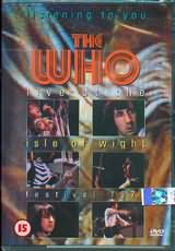 DVD image WHO / LISTENING TO YOU - LIVE AT THE ISLE OF WIGHT FESTIVAL 1970 - (DVD)