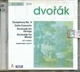 CD image for DVORAK / SYMPHONY NO.9 - CELLO CONCERTO - SERENADE FOR STRINGS - WIND SERENADE / VARIOUS (2CD)