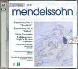 CD image for MENDELSSOHN / SYMPHONIES Nos.3 - 4
