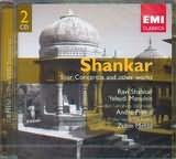 CD image SHANKAR / SITAR CONCERTOS / SHANKAR - PREVIN - MENUHIN - MEHTA (2CD)