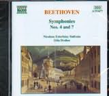 CD image BEETHOVEN / SYMPHONIES Nos.4 AND 7 / DRAHOS