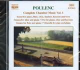 CD image POULENC / COMPLETE CHAMBER MUSIC Vol 1 / THARAUD