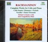 CD image RACHMANINOV / COMPLETE WORKS FOR CELLO AND PIANO