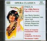 CD image FALLA / LA VIDA BREVE (OPERA IN 2 ACTS) / SANCHEZ - VALDES