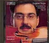 CD image YSAYE / SIX SONATAS OP.27 / KAVAKOS / KAVAKOS