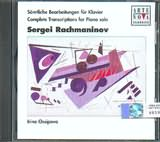 CD image RACHMANINOV / COMPLETE TRANSCRIPTIONS FOR PIANO SOLO - 6 MOMENTS MUSICAUX