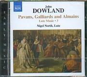 CD image DOWLAND / PAVANS GALLIARDS AND ALMAINS - LUTE MUSIC N 3 - NIGEL NORTH LUTE