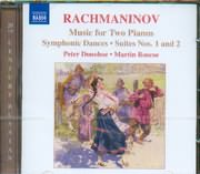 CD image RACHMANINOV / MUSIC FOR TWO PIANOS / SYMPHONIC DANCES / SUITES N 1 AND 2 [PETER DONOHOE MARTIN ROSCOE]