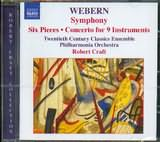 CD image WEBERN ANTON / SYMPONY OP 21 / SIX PIECES - CONCERTO FOR 9 INSTRUMENTS [ROBERT CRAFT]