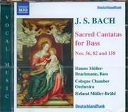 CD image BACH J S / SACRED CANTATAS FOR BASS N 56 - 82 - 158 HELMUT MULLER BRUHL