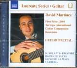 DAVID MARTINEZ / <br>GUITAR RECITAL / <br>SCARLATTI - REGONDI - BACH - DE LUCIA - SAINZ DE LA MAZA - TARREGA