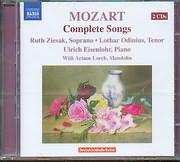 CD image MOZART / COMPLETE SONGS / ZIESAK - ODINIUS - EISENLOHR (2CD)