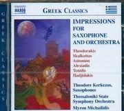 CD image THEODORE KERKEZOS WITH THESSALONIKI STATE SYMPHONY ORCHESTRA MYRON MICHAILIDIS / IMPRESSIONS FOR SAXOP