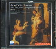 CD image TELEMANN / DREI SIND DIE DA ZEUGEN IM HIMMEL - CANTATAS / MAX