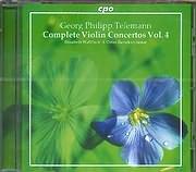 CD image TELEMANN PHILIPP GEORG / COMPLETE VIOLIN CONCERTOS VOL 4