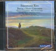 CD image RIES FERDINAND / DOUBLE HORN CONCERTO - VIOLIN CONCERTO - TWO OVERTURES - WILLENS MICHAEL ALEXANDER