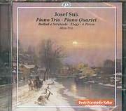 CD image SUK JOSEF / PIANO TRIO - PIANO QUARTET - BALLAD AND SERENADE - ELEGY - 4 PIECES - ATOS TRIO