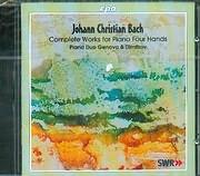 BACH J C / COMPLETE WORKS FOR PIANO FOUR HANDAS - PIANO DUO - GENOVA AND DIMITROV