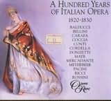 CD image A HUNDRED YEARS OF ITALIAN OPERA 1820 - 1830 / DAVID PARRY (3CD)