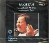 CD image PAKISTAN VOL.4 / NUSRAT FATEH ALI KHAN / CONCERT IN PARIS