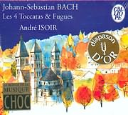 CD image BACH J S / THE FOUR TOCCATAS AND FUGUES - ANDRE ISOIR