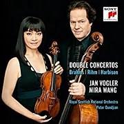 CD image JAN VOGLER / DOPPELKONZERTE BRAHMS, RIHM, HARBISON