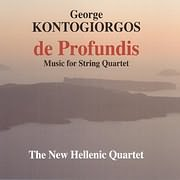 CD image GIORGOS KONTOGIORGOS / DE PROFUNDIS (THE NEW HELLENIC QUARTET)