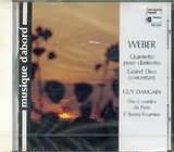 CD image WEBER / QUINTETTE POUR CLARINETTE