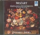 CD image MOZART / SERENADES AND DIVERTIMENTO KV 375 - 388 - 186