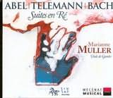 CD image ABEL - TELEMANN - BACH / SUITES EN RE POUR VIOLE DE GAMBE / MULLER