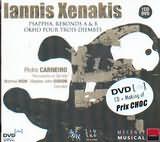 CD + DVD image XENAKIS G. XENAKIS / PSAPPHA REBONDS A + B OKHO POUR TROIS DJEMBES [DVD + CD + MAKING OF PRIX CHOC]