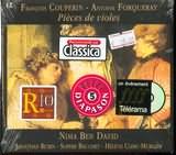 CD image COUPERIN / PREMIERE SUITE PASSACAILLE OU CHACONNE - FORQUERAY / PREMIERE SUITE NIMA BEN DAVID BASSE DE