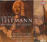 CD image TELEMANN / OUVERTUREN AND CONCERTI / AKADEMIE FUR ALT MUSIK - BERLINER BAROCK COMPAGNEY (5CD)