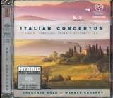 SACD image VIVALDI - PERGOLESI - DURANTE - SCARLATTI - LEO / ITALIAN CONCERTOS / CONCERTO KOLN - ERHARDT (SACD)