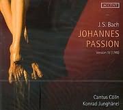 CD image BACH J.S. / JOHANNES PASSION - VERSION IV 1749 - CANTUS COLLN - KONRAD JUNGHANEL (2CD)