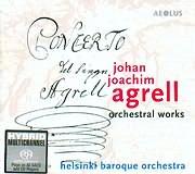 CD image AGRELL JOHAN JOACHIM / ORCHESTRA WORKS - HELSINKI BAROQUE ORCHESTRA - AARON HAKKINEN