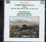 CD image MOZART / COMPLETE PIANO CONCERTOS VOL.8 NO.6 K238 - NO.8 K246 - NO.19 K459 / JANDO