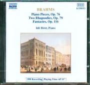 CD image BRAHMS / PIANO PIECES OP. 76 - TWO RHAPSODIES OP. 79 - FANTASIES OP.116