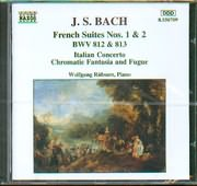 BACH J.S. / <br>FRENCH SUITES NOS.1 - 2 BWV 812 - 813
