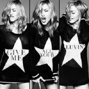 CD image MADONNA - NICKI MINAZ - M.I.A. / GIVE ME ALL YOUR LONIV (CD SINGLE)
