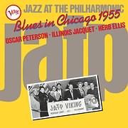 CD Image for OSCAR PETERSON - ILLINOIS JACQUET - H. ELLIS / JAZZ AT THE PHILHARMONIC: BLUES IN CHICAGO 1955 (VINYL)