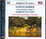 CD image BARBER SAMUEL / SYMPHONIES NOS.1 - 2 / ALSOP