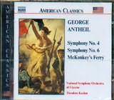 CD image ANTHEIL GEORGE / SYMPHONIES NOS.4 AND 6 / KUCHAR