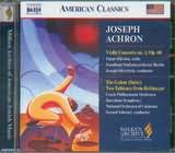 CD image ACHRON JOSEPH / VIOLIN CONCERTO NO.1 - THE GOLEM / SCHWARZ