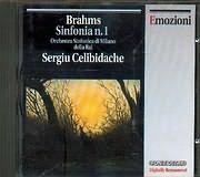 CD image BRAHMS / SINFONIA N 1 - SERGIU CELIBIDACHE - ORCHESTRA SINFONICA DI MILANO DELLA RAI