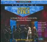 CD image VIVALDI / CATONE IN UTICA OPERA IN THREE ACTS / MALGOIRE (2CD)