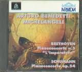 CD image BEETHOVEN PIANO CONCERTO N 5 - SCHUMANN / PIANO CONCERTO OP 54 BENEDETTI MICHELANGELI