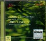 SACD image BRAHMS / SYMPHONY N 3 SERENADE N 2 BERNARD HAITINK LSO (SACD)