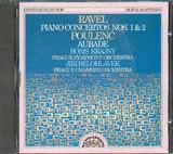CD image RAVEL / PIANO CONCERTO N 1 AND 2 - POULENG / AUBADE